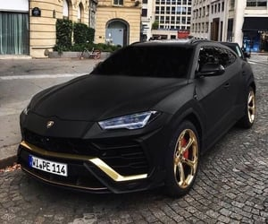black, cars, and gold image