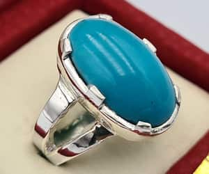natural turquoise, unisex gift, and islamic rings image