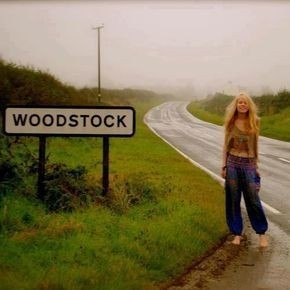 woodstock, hippie, and music image