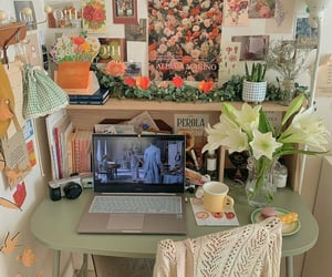 aesthetic, decor, and desk image