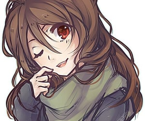 anime, long hair, and scarf image