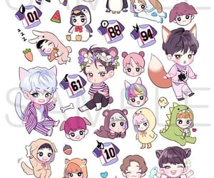chibi, exo, and korean image