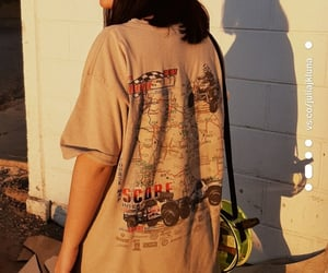 girl, outfit, and golden hour image
