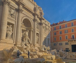 blue, roma, and fountain image