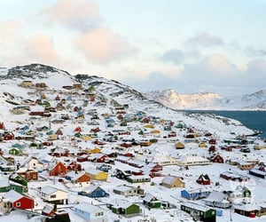 winter, snow, and greenland image
