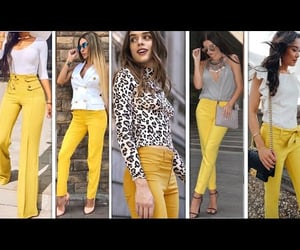 amarillo, lookbook, and outfits image
