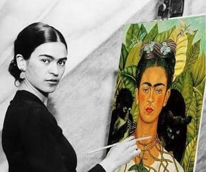 art, frida kahlo, and Self Portrait image