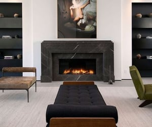 home decor, homely, and fire place image