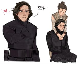 kylo ren, reylo, and rey star wars image