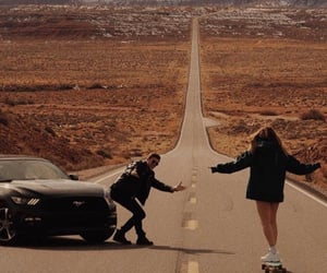 couple, lovers, and road image