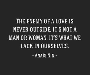 anais nin, couple, and insecurity image