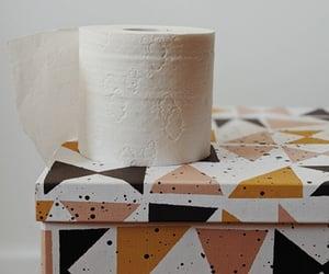 toilet tissue, tissue box, and kitchen towel image