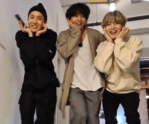 v, yoongi, and hoseok image