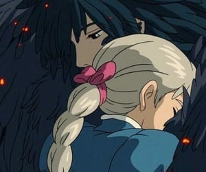 aesthetic, relationships, and howls moving castle image