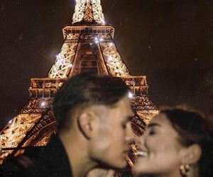 couple, eiffel, and france image