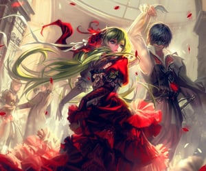 anime, cool, and red image