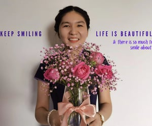 feel, keep smiling, and life is beautiful image