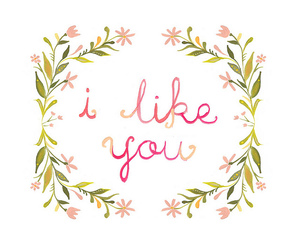 i like you, quote, and like image
