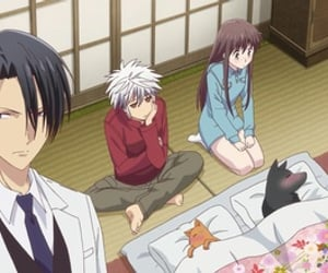 anime, sohma, and cat image