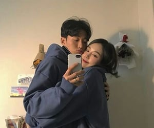 asian, couple ulzzang, and couple image