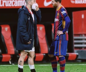Barca, gomez, and lionel messi image