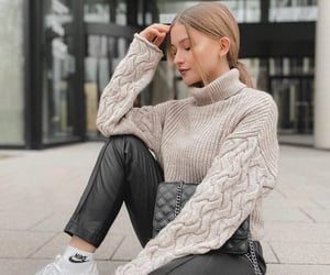 blonde, comfortable, and fashion image