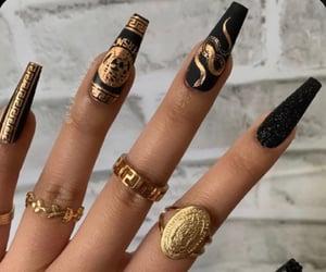 black, rings, and designer image