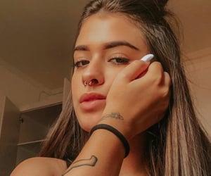 beautiful, brunette, and bun image