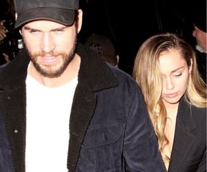 boy, miley, and liam hemsworth image