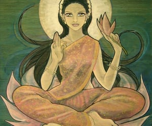 art, india, and lotus image