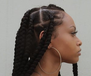 black, girls, and hair image