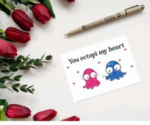 etsy, happy valentines day, and greeting card image