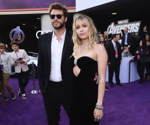 miley, liam hemsworth, and Avengers image