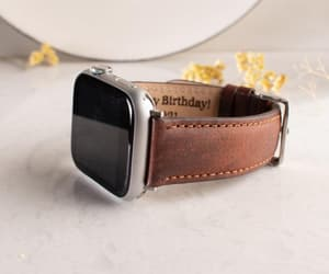 etsy, apple watch strap, and leather strap image