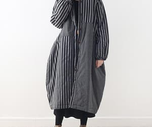 etsy, single breasted coat, and loose fitting coat image