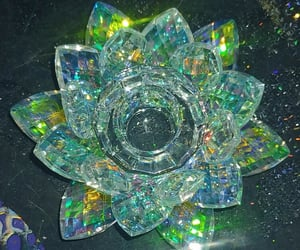 colours, lotus, and crystal image