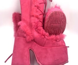 boots, pink, and y2k image