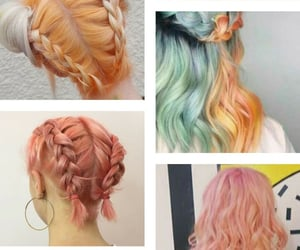 hair, pastel, and hair color image