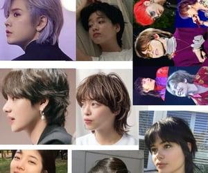 hair, haircut, and kpop image