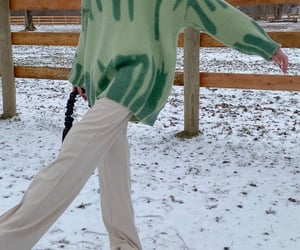 snow, sweater, and winter image