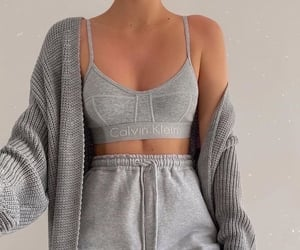 grey, outfit, and style image