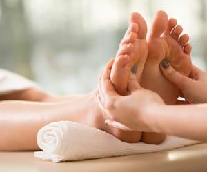 feet massage, reflexology massage, and healthcure massage botany image