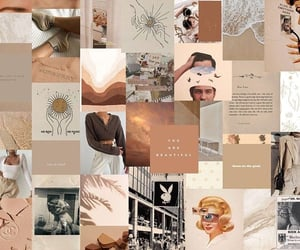 background, Collage, and cream image