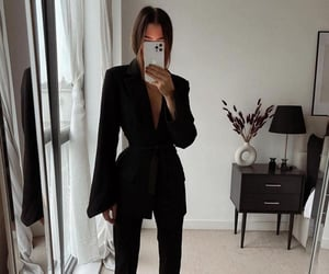 black, details, and fashion image