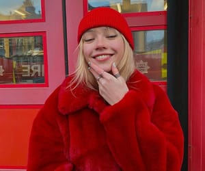 lola clark, fashion, and red image