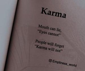captions, eyes, and karma image