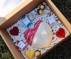 alcohol, valentines, and cake image