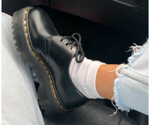black, style, and dr martens image
