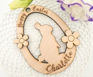 easter bunny, easter eggs, and etsy image