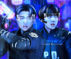futuristic, kpop, and namjin image